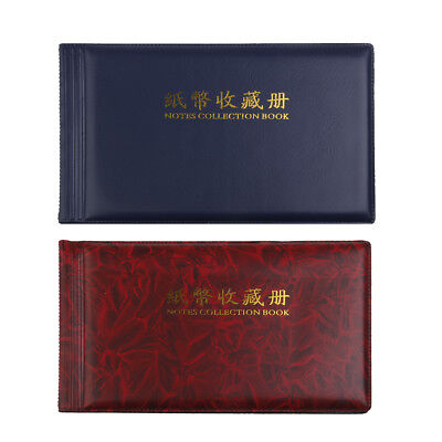 2pcs 30 Page Paper Money Currency Banknote Collection Storage Display Album