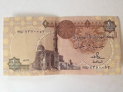 Central Bank of Egypt - One (1) Pound Banknote - Circulated - Clean