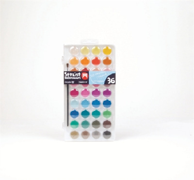 Micador Stylist Watercolour Paint Set 36 With Brush WCD36