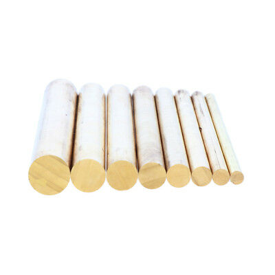 "4"" / Diameter 4mm to 12mm Solid Brass Round Bar Rod, Lathe Bar Stock"