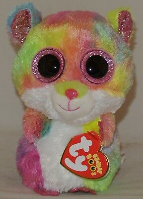 New! 2018 Summer Release Ty Beanie Boos RODNEY Tie Dyed Hamster 6