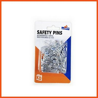 2400 x ASSORTED SIZES SAFETY PINS Zinc | Sewing Accessories Clothing Arts Crafts