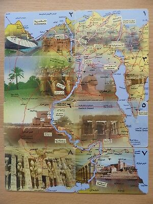 River Nile pictoral puzzle 8 Egyptian phonecards
