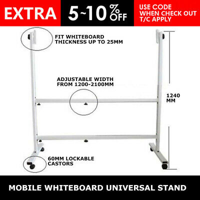 NEW 1200-2100mm MOBILE WHITEBOARD UNIVERSAL STAND Only fit 1200x1800 boards