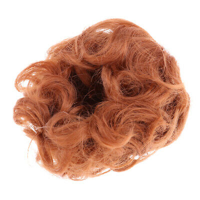 Trendy Short Curly Wig Haircut for Uncle Doll DIY Dress Accessory Radish Red