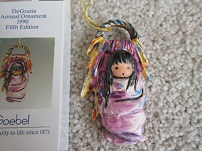 DeGrazia 1990 Goebel Pink Papoose Ornament-2nd ornament ships for $1 more