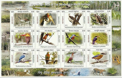 Bangladesh Mnh 2011 Magnificent Birds World Heritage Bird Animals Animal Tiger