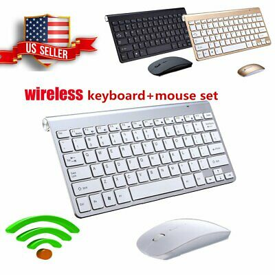 Wireless Keyboard And Mouse Combo Set 2.4G For Mac Apple Pc mini Size Slim USA