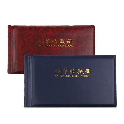 2pcs 30 Pages Banknote Currency Collection Album Paper Money Pocket Book