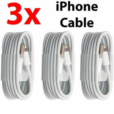 3X 2M Extra Long USB LEAD SYNC DATA CABLE CHARGER FOR iPhone 7 6 PLUS 5 5S iPad