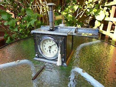 BRITISH TIME RECORDERS Co Ltd LONDON EC.TABLE TOP MODEL RESTORED IN THE PAST.