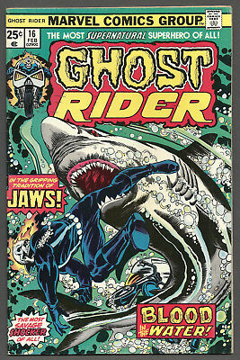 Ghost Rider # 16 (Marvel, Jan 1976) Jaws (See Scans/Pics)