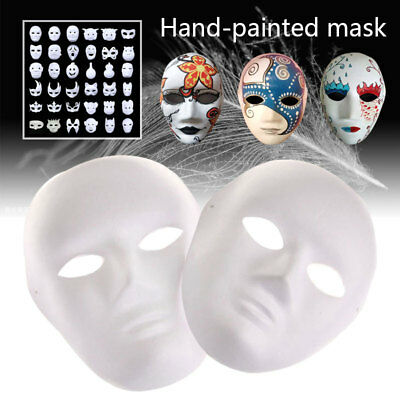 Painted Mask DIY White Mask Lightweight Decorate DIY Masquerade Party Hip-Hop
