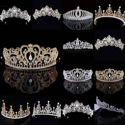 NEW Women Girl Rhinestone Tiara Hair Band Bridal Princess Prom Crown Headband