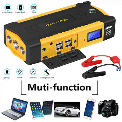 13600mAh 12V 600A Portable USB Pack Jump Starter Car Power Bank Charger Booster