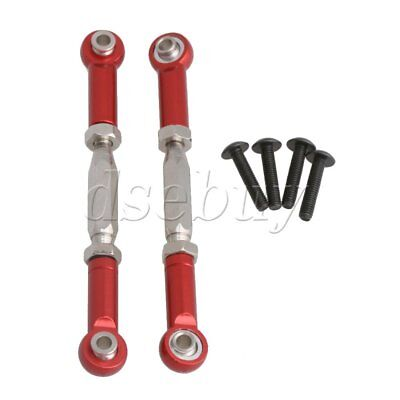 2P Red Aluminum Alloy Front Streeing Servo Link For HIMOTO RC1:10 Off Road Car