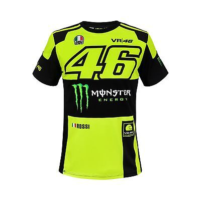 2018 VR46 Valentino Rossi #46 MotoGP Mens T-Shirt Tee Monster Energy Sizes S-XXL
