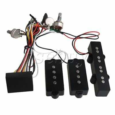 3- Band Active EQ Preamp Circuit for JP PB Bass Pickup Combination Black