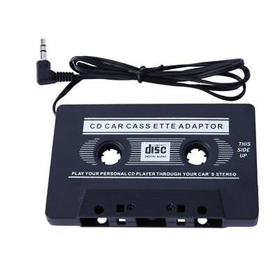 Car Audio Cassette Tape to 3.5mm AUX Audio Adapter for MP3 CD DVD Player Black.