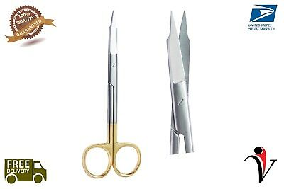 GOLDMAN FOX SCISSOR 2PCS STRAIGHT/CURVED Dental Surgical Instruments STAINLESS