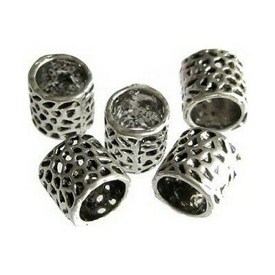 4 Perles Spacers Intercalaires Métal  JAVA  Arg Tib 16 mm