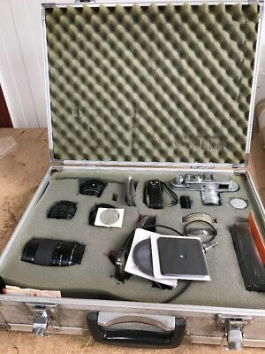 Vintage Zorki-4 Camera And Accessories Untested Spares Or Repairs
