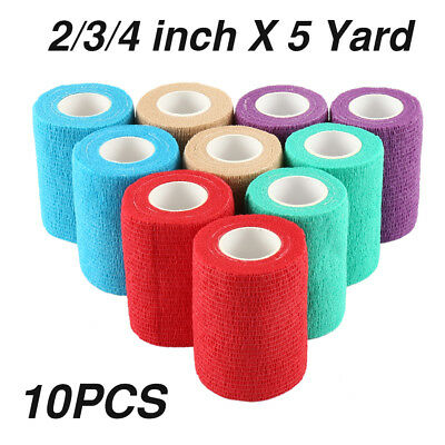 Non-woven Self-Adhesive Elastic Wrap Tape Pet Horse Dog Cat Vet Wound Bandage