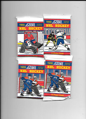 NHL Hockey 1990 Score 15 player cards-4 packages