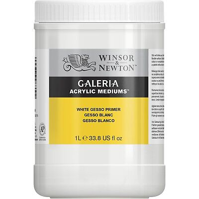 Winsor & Newton Galeria White Gesso Acrylic & Oil Painting Primer 1 Litre SALE
