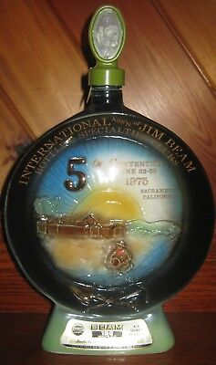 """1975 """"5th Jim Beam Bottle Specialty Club Convention"""" Jim Beam decanter"""