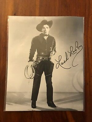 Lash LaRue, Western Movie Star, Signed Promotional Photograph