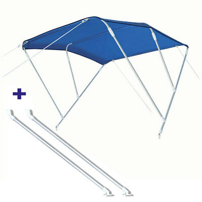 Pack Bimini 3 arc. alu - bleu - 225/245 cm - h 140 cm tube 20 mm + bras de suppo