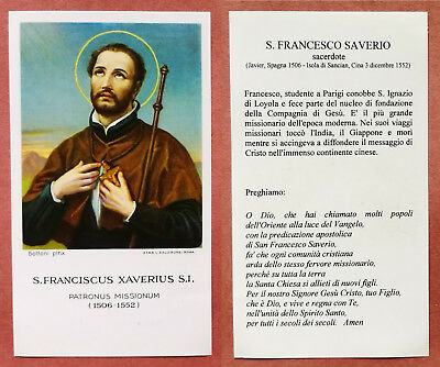 Santino Holy Card: S. San Franciscus Xaverius - Francesco Saverio