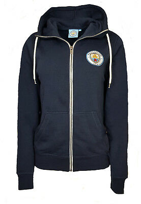 WOMENS Size 12 MANCHESTER CITY Full Zip Hooded Top Football Hoodie