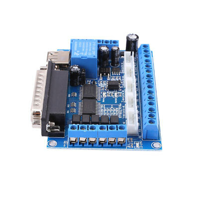 5 Axis CNC Interface Adapter Breakout Board with USB For Stepper Driver MACH3