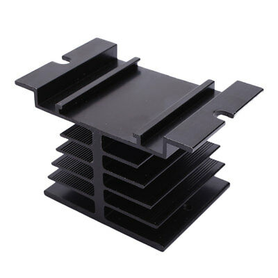 Aluminum Alloy Heat Sink 80 x 50 x 50mm Mountable For Solid State Relay