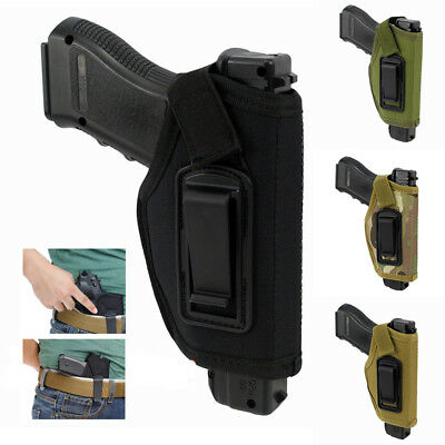 Gun Holster Concealed Carry Holsters Belt W/ Metal Clip For Airsoft Hunting