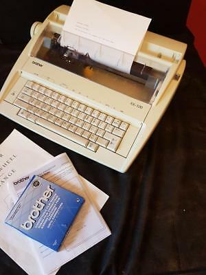 Brother AX100  Electric Typewriter -  Spare ribbon & Instructions