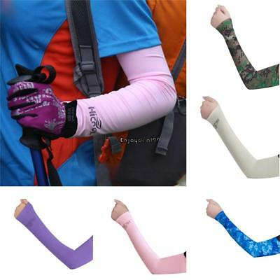 Sun Protection UV Outdoor Sport Hiking Cycling Arm Sleeve Cover Cuff OO55