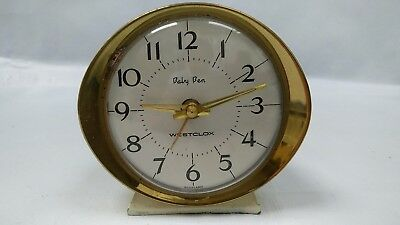 Classic Vintage 1960's Baby Ben Wind Up Alarm Clock by Westclox Scotland