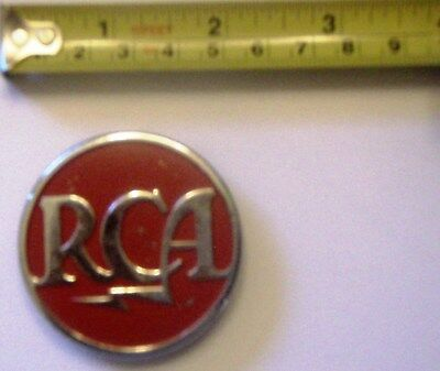 RCA 2-Inch Metal Medallion Music Phonograph Record Player