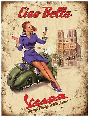A0 A1 A2 A3 poster print for glass frame vintage art Italy painting Vespa
