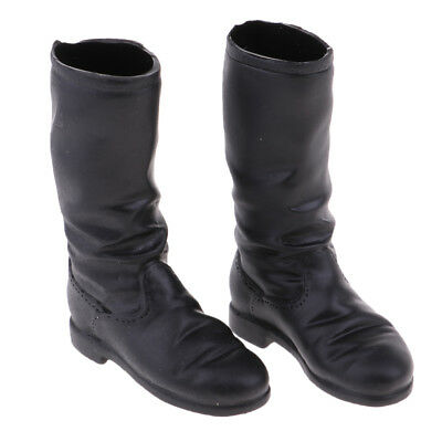 For 12'' Action Phicen Kumik Hot Doll Female Mid-calf Knee Low-heeled Boots