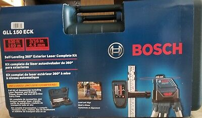 NEW Bosch 360-Degree Self-Leveling Exterior Laser Kit GLL 150 ECK