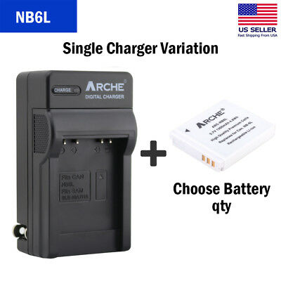 ARCHE NB-6L Battery + Charger for Canon Powershot SX700 SX600 SX500 SX280 SX610