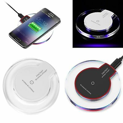 ULTRA SLIM FAST CHARGING Qi WIRELESS CHARGER DOCK PAD FOR IPHONE X 8 8 PLUS S9