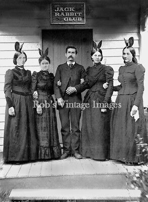 Old West  Brothel Girls Soiled Doves Jack Rabbit Club Sporting Club 1890 photo
