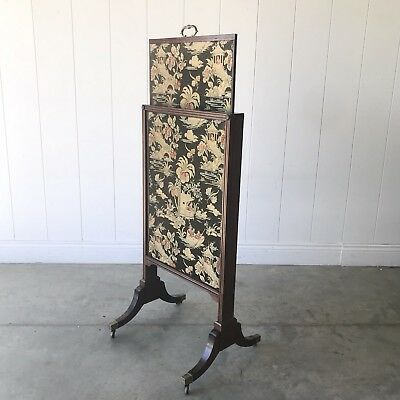 ANTIQUE REGENCY Pull Out Fire Screen Adjustable Metamorphic Three Sliding Leaves