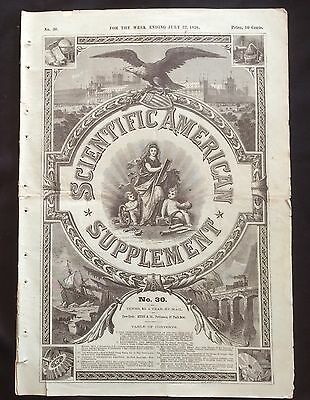 1876 Scientific American  newspaper CENTENNIAL INTERNATIONAL EXHIBITION Philly