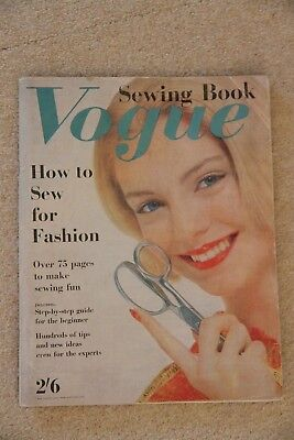 Vintage  Vogue Sewing Book Magazine 1960s Retro Fashion & lots of sewing tips